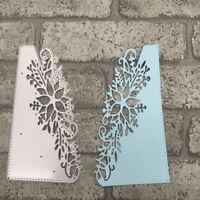 Cutting Dies Flower Corner Xmas Christmas Poinsettia Craft Frame Steel