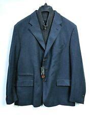 NEW CORNELIANI ID Blue Tweed Wool Blazer Car Jacket w/ Mock Zip Bib 50R NWT