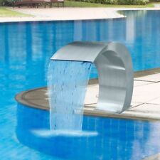 vidaXL Pool Fountain Stainless Steel Sheer Descent Pond Garden Water Feature
