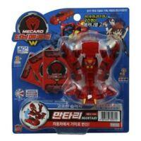 TURNING MECARD W MANTARI RED Transformer Transforming Car Peacock Robot Toy_Nk