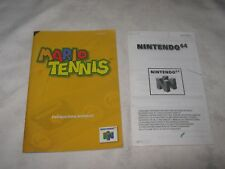 A Nintendo 64 Mario Tennis Instructional Booklet & Leaflet (Only)