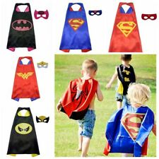 Children Super Hero Cape Mask Kids boys girls party Fancy Dress Costume Outfit