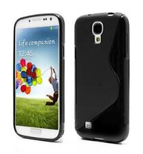 Housse Etui Coque Silicone Gel Noir S ~ Samsung GT i9500 Galaxy S4
