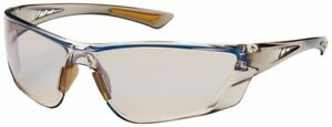 Bouton Recon Safety Glasses Brown Temple Indoor/Outdoor Blue Anti-Fog Lens