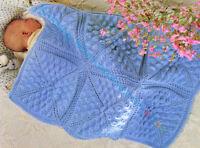 Knitting Pattern -Baby Cot/Pram Cover/Blanket DK P/0063