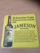 Jameson Irish Whiskey Beer Mat - Drop Mat - Coaster