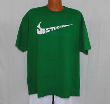 Nike Size 2XL Green Loose Fit Tee T-Shirt Swoosh Just Do It Casual Fitness