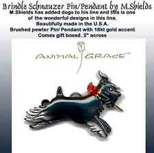 SCHNAUZER Dog pin/Pendant Handcrafted by M. Shields