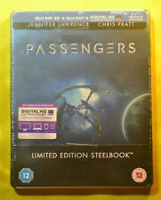 UK Edition New & Sealed 3D Passengers Steelbook Blu-ray