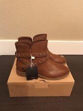 Zara Girls Brown Strap Detail Boots Sz3 NEw In Box