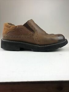 Ariat Loden 4LR Brown Leather Slip On Work Comfort Loafer Womens Shoes Size 10B