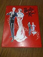 Vintage Red Barbie and Ken Case 1963 with accessories
