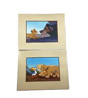 2 Disney 1994 The Lion King Lithographs Scar & Simba And Simba &  Nala & Zazu