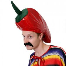 Red Hot Chilli Pepper Mexican Novelty Food Party Hat Funny Joke Chef FancyDress