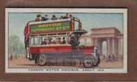 c1910 London Motor Double Decker Omnibus  Vintage Trade Ad Card