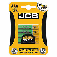 4 x JCB Rechargeable NiMH 900mAh AAA Cordless Phone Battery BT Aura Sonus - NEW