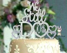HEART 10th Wedding Anniversary Rhinestone BLING Cake Topper set party supplies
