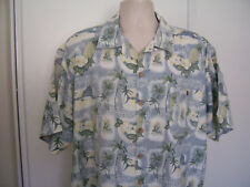Summa Mens Aloha Hawaiian Shirt Cotton Rayon Short Sleeve Pineapple Fish Size XL