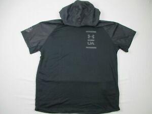 Under Armour Sweatshirt Men's Black Short Sleeve Sweatshirt NEW 3XL