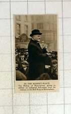 1920 Bishop Of Birmingham Addressing Workers Marketplace Bullring Birmingham