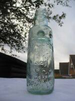 "VINTAGE ANTIQUE ""BULB NECK"" CODD MARBLE VICTORIAN BOTTLE J.HITCHON KIDDERMINSTER"