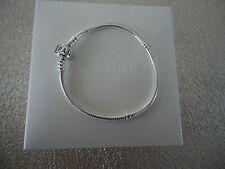 "Authentic Pandora Iconic Silver Charm Bracelet 18cm 7.1 "" Hinged Box 590702HV-18"
