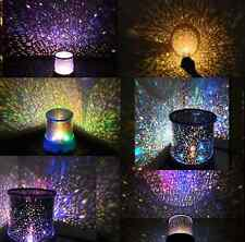LED Romantic Starry Night Gift Sky Projector Lamp Kids Star light Cosmos Master