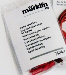Märklin C Track 74043 Signal Electrical Connection Set Wires Plugs & Insulators