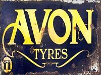 AVON Tyres retro vintage garage metal wall sign plaque workshop