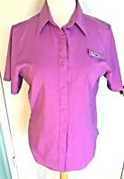 Womens Columbia Top S Button Down Shirt Hiking Outdoor Omni-Shade Sun Protection