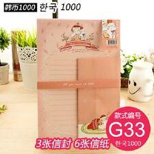 korean paper letter set girl kawaii