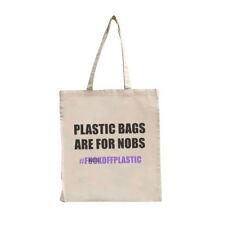 Funny Tote Shopping Bag Eco Environmentally Friendly Say No To Plastic