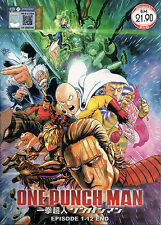 DVD One Punch Man Complete Anime Series 12 Episodes + OVA with English Subs