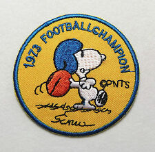 """Mtm Embroidery Peanut Snoopy Football Round Iron-on Badge Patch Applique, 2 7/8"""""""
