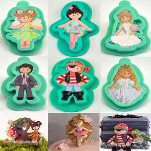 3D Fairy Wedding Fondant Mould Cake Decorating Chocolate Baking Mold Sugarcraft
