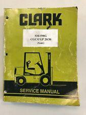 Clark Service Manual SM-598G CGC/CGP 20/30 (Gas)
