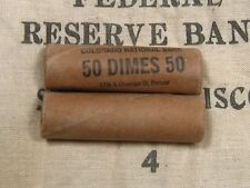 ONE - Mercury Barber Dime Roll 50 Coins 1916-1945 PDS