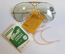 NOS B&L RAY BAN USA PHOTOCHROMATIC SHOOTER AVIATOR 62mm CHANGEABLES 60s VINTAGE