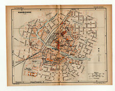 Map Of Narbonne Cote d'Azur Southern France 1926