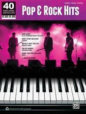 40 Sheet Music Bestsellers: Pop & Rock Hits Piano/Vocal/Guitar