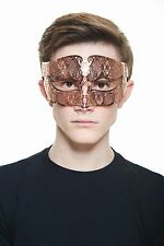 Handsome Rose Gold Venetian Laser Cut Masquerade Mask BD005RG Mardi Gras Prom