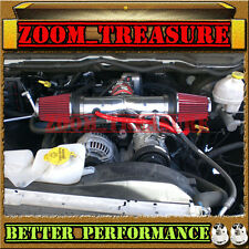RED CHF DUAL 2004-2011 DODGE DAKOTA/DURANGO/RAM/NITRO 3.7L V6 TWIN AIR INTAKE