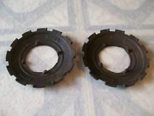 Antique  I H  Cast  Planter Plates   / two