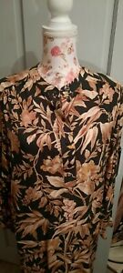 H&M Green Flora Multi Tunic Style Top Size Eur 40 Worn once