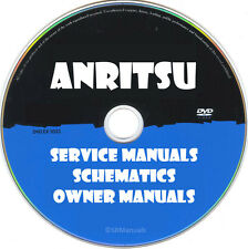 Anritsu & Wiltron Service Owner Manuals & Schematics- more than 500 PDFs on DVD