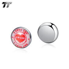 TT 10mm Stainless Steel I Love You Magnet Earrings (bm13)