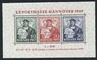 Bizone Block 1 postfrisch / **, Exportmesse Hannover 1949 (45365)