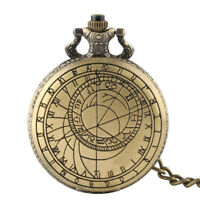 Vintage Bronze Doctor Who Theme Pocket Watch Classical Pendant Fob Chains