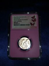 NGC 70 MS 2018 Breast Cancer Awareness ER PINK CORE $5 Gold Coin