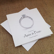 "Personalised Handmade Engagement Card ""Diamond Ring"""